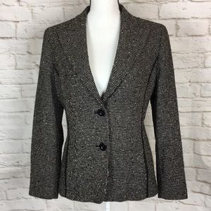 MaxMara Studio Tweed 2 Button Blazer Size 10